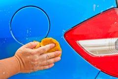 Помойте автомобиль Стоковое Изображение RF