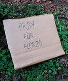 Помолите для Флориды написанной в карточке Стоковое фото RF