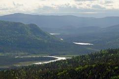 Помох между горами стоковое изображение