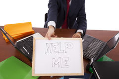 помощь бизнесмена Стоковая Фотография RF