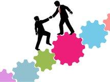 Помощь бизнес-консультанта соединяет техника Стоковое фото RF