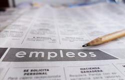 Помощь испанского языка хотела раздел Стоковое Изображение