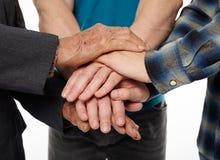 Помощь и поддержка между поколениями Стоковое Фото