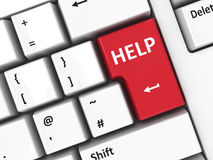 Помощь клавиатуры компьютера Стоковые Фото