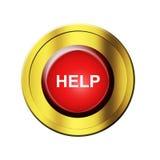 помощь кнопки Стоковые Изображения RF