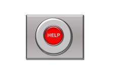 помощь кнопки Стоковые Фотографии RF