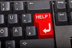 помощь кнопки Стоковое Фото