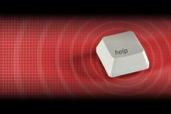 помощь кнопки Стоковая Фотография