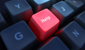 помощь кнопки Стоковое Изображение RF