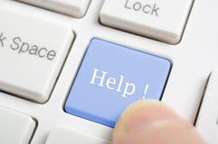 Помощь на клавиатуре Стоковые Фото