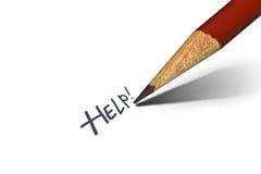 помощь пожалуйста стоковое изображение rf
