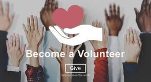 Помощь помощи волонтера призрения дарит концепцию Стоковое фото RF