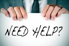 Помощь потребности? Стоковое Изображение