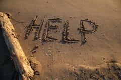 Помощь сообщения Стоковые Фото