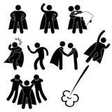 Помощь спасения героя супергероя защищает иллюстрация вектора