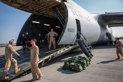 Помощь США воинская к Украине Стоковая Фотография