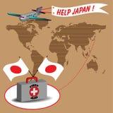 помощь япония иллюстрация штока
