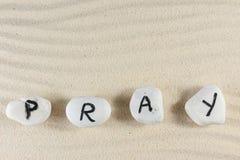 Помолите слово стоковое фото rf
