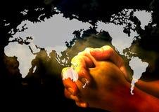 Помолите для мира иллюстрация вектора