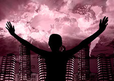 Помолите для мира Стоковая Фотография