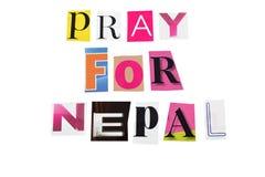 Помолите для Непала Стоковые Изображения RF