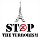 Помолите для Парижа стоковое фото rf
