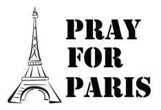 Помолите для Парижа стоковые изображения
