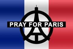Помолите для Парижа Стоковая Фотография