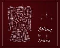 Помолите для Парижа Стоковая Фотография RF