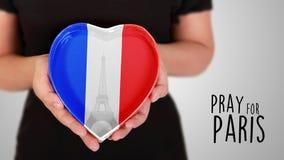 Помолите для Парижа стоковое фото
