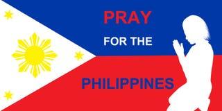 Помолите для Филиппин Стоковое фото RF
