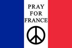 Помолите для Франции Стоковые Изображения RF