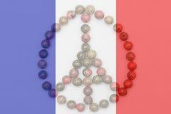 Помолите для флаг Парижа, Франции прозрачный Стоковые Изображения RF
