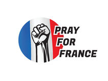 Помолите для france2 Стоковые Фотографии RF