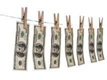 Помытая принципиальная схема долларов Стоковые Изображения