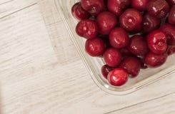 Помытые вишни готов-к-едят Стоковые Изображения RF