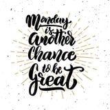 Понедельник еще один шанс быть большой иллюстрация вектора