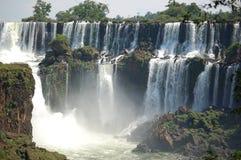 понижается взгляд iguazu панорамный Стоковые Фото