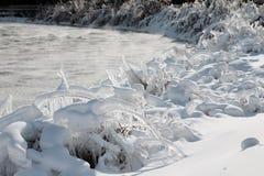 понижается зима niagara стоковая фотография