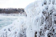 понижается зима niagara стоковые фото