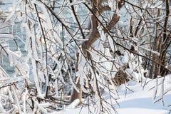 понижается зима niagara стоковые изображения
