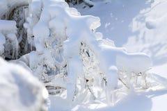 понижается зима niagara стоковое фото