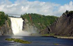 понижается montmorancy Квебек Стоковая Фотография