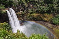 понижается wailua Гавайских островов kauai Стоковая Фотография