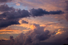 понижать небо Стоковые Фото