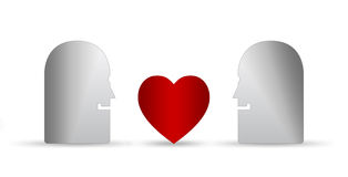 понижаясь влюбленность Стоковое Изображение RF
