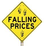 Понижаясь уменьшенные цены хлещущ скидку специальной продажи цен иллюстрация штока