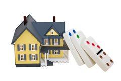 понижаясь цены снабжения жилищем Стоковое фото RF