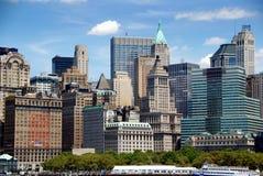 понизьте взгляд башен nyc manhattan стоковые изображения