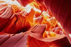 Понизьте каньон антилопы около страницы, Аризоны, США Стоковые Изображения